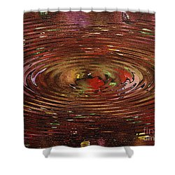 Reflections Of Christmas Shower Curtain by Wayne Cantrell