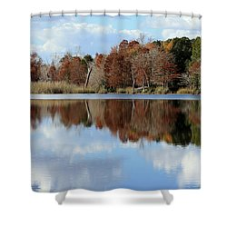 Shower Curtain featuring the photograph Reflections Of Color by Debra Forand