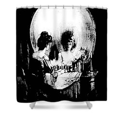 Reflections Of Death After Gilbert Shower Curtain by Tracey Harrington-Simpson