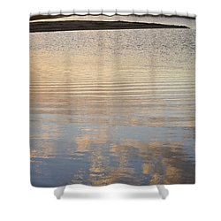 Reflections Of Dusk Shower Curtain by Allen Sheffield