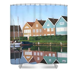 Reflections Of Holland Shower Curtain by Lynne Reichhart