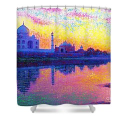 Taj Mahal, Reflections Of India Shower Curtain