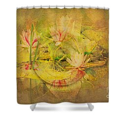 Reflections Of Monet's Lilies Shower Curtain