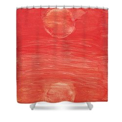 Shower Curtain featuring the painting Reflections Of Pain by Tracey Williams