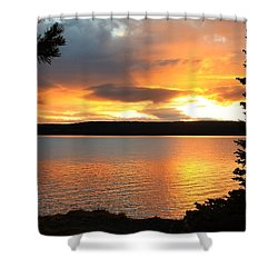 Shower Curtain featuring the photograph Reflections Of Sunset by Athena Mckinzie