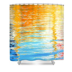 Reflections Of The Setting Sun Shower Curtain