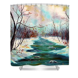 Reflections Of Worship Shower Curtain by Meaghan Troup