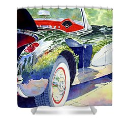 Reflections On A Corvette Shower Curtain