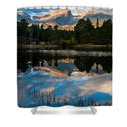 Reflections On A Lake 3 Shower Curtain by Anne Rodkin