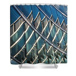 Reflections On Building Windows Shower Curtain