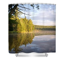 Reflections On Canisbay Lake Shower Curtain