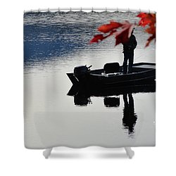Reflections On Fishing Shower Curtain