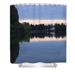 Reflections On La Saone Shower Curtain