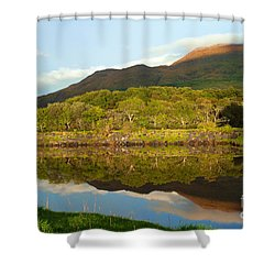 Reflections On Loch Etive Shower Curtain