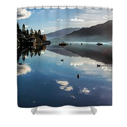 Reflections On Loch Goil Scotland Shower Curtain