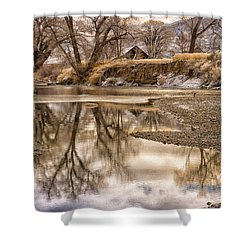 Shower Curtain featuring the photograph Reflections On The Truckee by Janis Knight