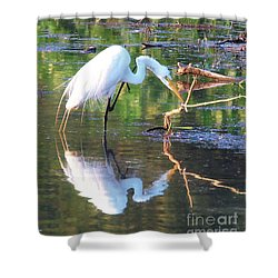 Reflections On Wildwood Lake Shower Curtain