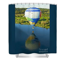 Shower Curtain featuring the photograph Reflections Over The Dechutes by Nick  Boren