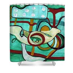 Reflective #3 Shower Curtain