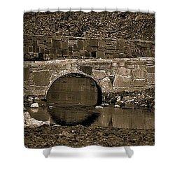 Shower Curtain featuring the photograph Reflective Bridge by Tara Potts