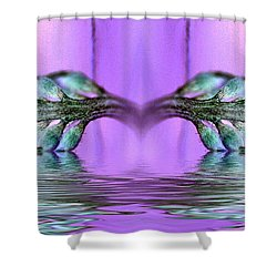 Reflective Consciousness Shower Curtain by WB Johnston