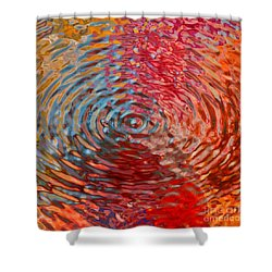 Refraction Abstraction Shower Curtain by Andrea Auletta