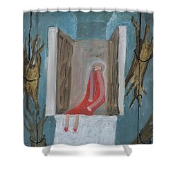 Refrigerator Rock And The King Shower Curtain by Nancy Mauerman