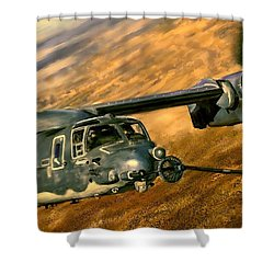 Refueling Shower Curtain