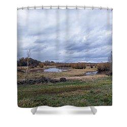 Refuge No 1 Shower Curtain by Belinda Greb