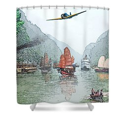 Refugees On The Yangtze Shower Curtain