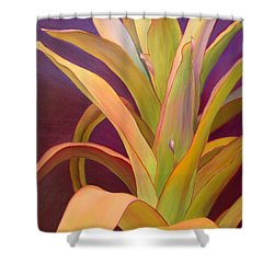 Shower Curtain featuring the painting Regalia by Sandi Whetzel
