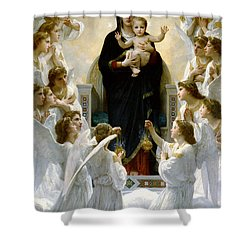Regina Angelorum Shower Curtain by William Bouguereau
