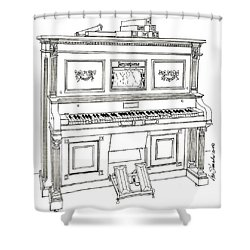 Regina Player Piano Shower Curtain by Ira Shander