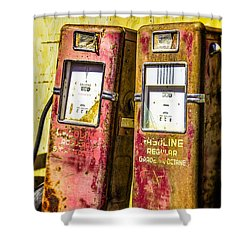 Shower Curtain featuring the photograph Regular Gasoline by Steven Bateson