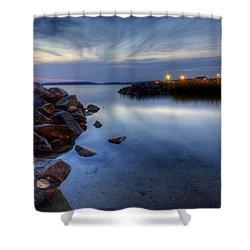 Rehoboth Bay Sunset At Dewey Beach Shower Curtain
