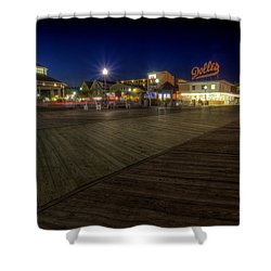 Rehoboth Beach Boardwalk At Night Shower Curtain