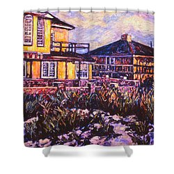Rehoboth Beach Houses Shower Curtain