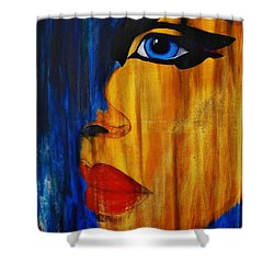 Shower Curtain featuring the painting Reign Over Me 3 by Michael Cross