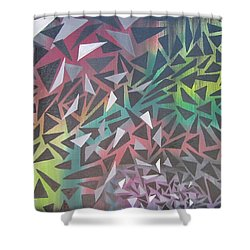 Reigning Triangles Shower Curtain