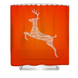 Reindeer Shower Curtain by Aged Pixel