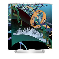 Rejoice In The River Shower Curtain by Jennifer Kathleen Phillips