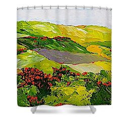 Rejoice Once Again Shower Curtain by Allan P Friedlander