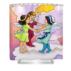 Rejoice Shower Curtain by Sarah Batalka