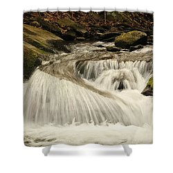 Relax And Listen....she Is Talking Shower Curtain by Tammy Schneider
