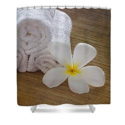 Relax At The Spa Shower Curtain by Kim Hojnacki
