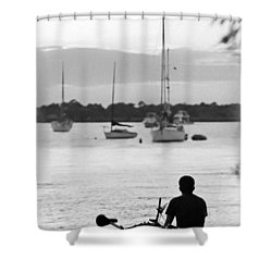 Relax Shower Curtain by Patrick M Lynch