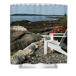 Relaxing Afternoon Shower Curtain by Mariarosa Rockefeller