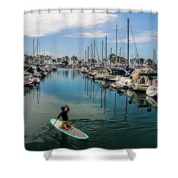Relaxing Day Shower Curtain by Tammy Espino