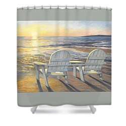 Relaxing Sunset Shower Curtain