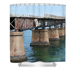 Relic Of The Old Florida Keys Overseas Railroad Shower Curtain